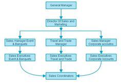 Sales and Marketing Department Organizational chart: http://www.setupmyhotel.com/train-my-hotel-staff/sales-and-marketing/282-sales-chart.html