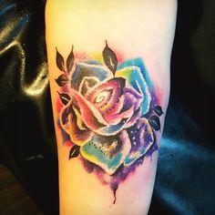 Photo by (lipeou_phetsangharn) on Instagram | #sophi_rumors_tattoos #watercolortattoo #rosestattoo #colorfultattoo #tattoos Colorful Tattoos, First Tattoo, Rose Tattoos, Watercolor Tattoo, Tattoo Designs, Inspiration, Beautiful, Instagram, Color Tattoos