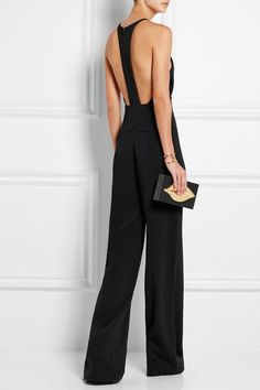 Narciso Rodriguez - black elegant jumpsuit with open back and single line #summertime