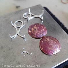 Incastonatura a griffe in argento per orecchini - Beads and Tricks