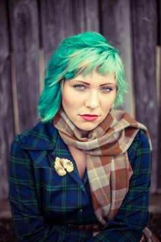 Mad About Plaid Concept shoot for Most Everything Vintage, Vancouver WA Model and MUAH: Ashley Photography: Chelsea Smith of Urban Bay