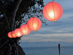 Japanese lanterns are an affordable way to create an archway that is elegant and effortless.