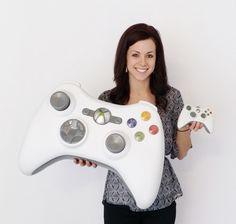 White Giant Xbox 360 Video Game Controller 3D Super Sized Huge Sign Sculpture  picclick.com