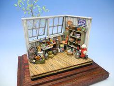 """D""Antiques. 1/24 scale. By ""Doozy"" Yasu OKUGAWA. #diorama"