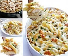 Chicken Alfredo Bake Zitti