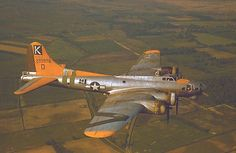 """Boeing B-17G Flying Fortress """"A bit o' lace"""" of the 709th Bombardment Squadron, 447th Bombardment Group, United States 8th Air Force"""