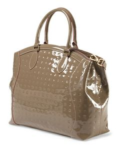 Made in Italy Leather Embossed Tote
