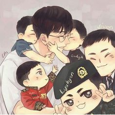 Lovely fanart for Super junior 😍❤❤ Eunhyuk, Heechul, Cho Kyuhyun, Super Junior T, Super Junior Leeteuk, Buddy The Elf Quotes, Exo Fan Art, Quotes About Love And Relationships, Relationship Quotes