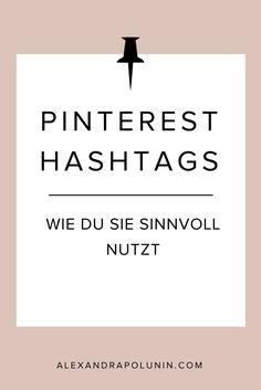 Hashtags auf Pintere