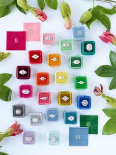 Pretty rings and ring boxes