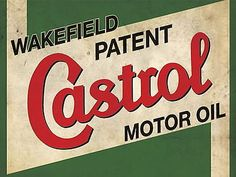 "CASTROL WAKEFIELD VINTAGE ADVERT POSTER 8"" X 6"" METAL PLAQUE for GBP4.67…"