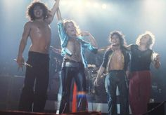 Never-before published Van Halen photo Long Beach Arena, 9 July 1978, leaving the stage after wowing their home town fans. Photo Credit:Brad Elterman