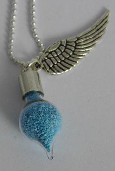 Pastel Blue Fairy Dust Vial Necklace £5.00