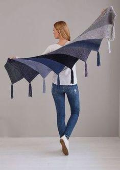 Fan cloth as Wingspan variant - Stricken , Fächertuch als Wingspan Variante Fan cloth as Wingspan version - free knitting instructions Stricken. Poncho Knitting Patterns, Shawl Patterns, Free Knitting, Crochet Patterns, Crochet Ideas, Knitted Shawls, Crochet Shawl, Crochet Scarves, Knit Crochet