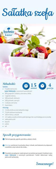 Sałatka szefa /sałatka /Lazur /ser pleśniowy /rokpol /przepisy /kuchnia lazur