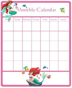 Princess Printable Calendar | DISNEY PRINCESS PRINTABLE CALENDAR