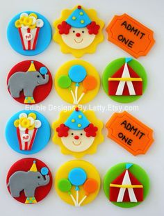 circus cupcakes - Google Search