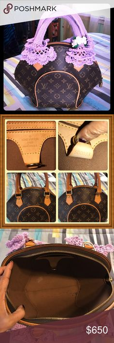 Authentic LV Ellipse PM In great condition. Some ink stain inside but nothing major at all. All pipings are in great shape, even honey patina is perfect. W/ lock but no key. Free handle cover. Louis Vuitton Bags Mini Bags