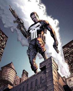 Punisher by Daniel Picciotto The Punisher, Punisher Comic Book, Punisher Comics, Comic Book Characters, Comic Book Heroes, Marvel Characters, Comic Books Art, Comic Character, Comic Art