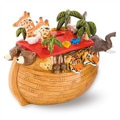 Porcelain children's money box in a colourful Noah's Ark design, handcrafted in England by the Halcyon Days artists. Delightful and quirky luxury gift for a child's birthday or christening. Childrens Money Box, Out Of The Ark, Halcyon Days, Christmas Gifts, Christmas Ornaments, Tis The Season, Birthday Gifts, Decorative Boxes, Holiday Decor