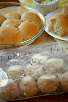 Make ahead wheat yeast rolls. You can make ahead and freeze SOFT whole wheat rolls. This recipe is like rhodes where you can make the dough, freeze it and then pull our the rolls to rise and make fresh rolls. DELISH!