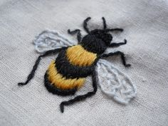 bunny bee embroidery - Google Search