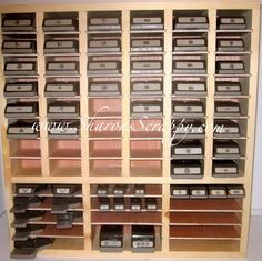 Ladder home depot and gray on pinterest for Craft punch storage ideas