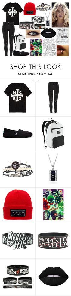 """1.3 the sister of... II Denis Stoff"" by nikkyvanderoer on Polyvore featuring mode, River Island, TOMS, adidas Originals, Bling Jewelry en Lime Crime"