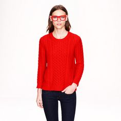 J.Crew - Cable-knit pocket sweater