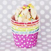 Polka Dot Ice Cream Cups from ShopSweetLulu.com. Cute idea for an ice cream party!
