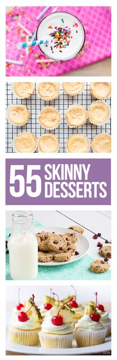 Healthy Dessert Ideas: Try these 55 amazing low-cal desserts - they're under - All Fitness Healthy Desserts, Just Desserts, Delicious Desserts, Dessert Recipes, Yummy Food, Healthy Recipes, Dessert Ideas, Skinny Recipes, Healthy Meals