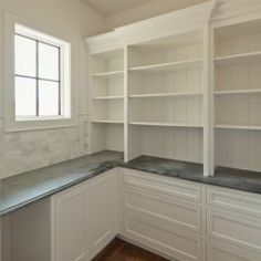 walk in pantry-really like the soapstone countertop