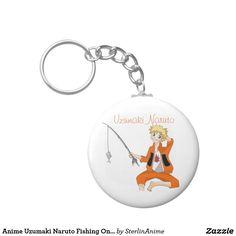 Anime Uzumaki Naruto Fishing On A Hot Summer Day Keychain