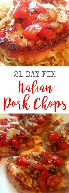 21 Day Fix Italian Pork Chops | Confessions of a Fit Foodie