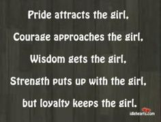 Loyalty= respect and trust
