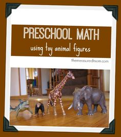 preschool math with toy animal figures - the measured mom