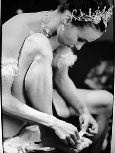 Sylvie Guillem - had this woman fit my pointe shoes once. She told me I had beautiful feet. :)