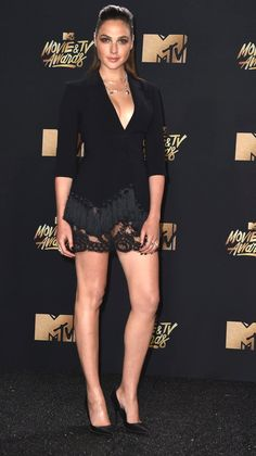 Gal Gadot in Cinq A Sept attends the 2017 MTV Movie And TV Awards. #bestdressed