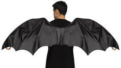 A great accessory for any fantasy-based costume or character. Deluxe black vinyl wings. One size fits most adults.