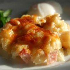 Cheesy Ham and Hash Brown Casserole