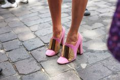 Pink heels are the perfect recipe to a girl's happiness.