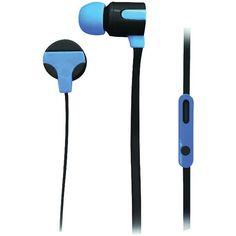 NAXA NE-939 BLUE ASTRA Isolation Stereo Earphones with Microphone (Blue)