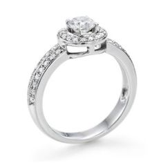 Diamond Engagement Ring 1 ct, J Color, SI2 Clarity, IGI Certified, Round Cut, in 18K Gold / White