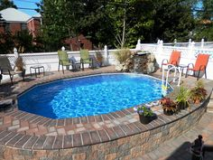 58 best semi inground pools images in 2019 gardens play areas swat. Black Bedroom Furniture Sets. Home Design Ideas