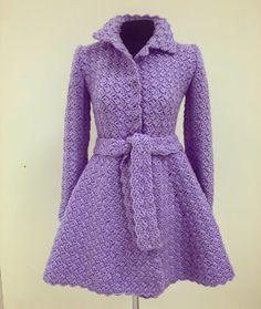crochet irlandês &: COAT CROCHET ... COAT