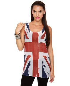 A More Perfect Union Jack Sheer Tunic Top  $24.00 #lovelulus