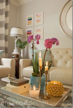 colorful_living_room_by_cuckoo4design Love this coffee table arrangement!