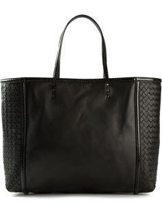 9167e6b6 #bottegaveneta #bottegavenetabags #shoppingbag #totes #intrecciato #black  #leather #womensfashion