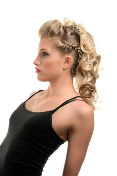 Hair and makeup by @Cami Elliott Photo by #EricFisher #fauxhawk #braid #curls