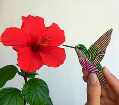 Beaded Hummingbird brooch Hummingbird pin Colibri Bird brooch